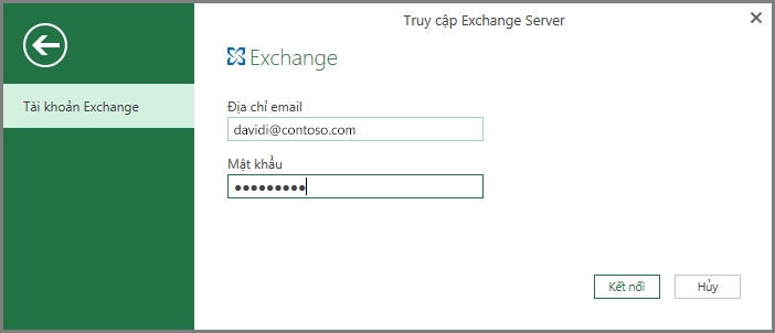 Thông tin xác thực Exchange
