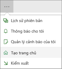 Thực hiện các mục menu Trang chủ