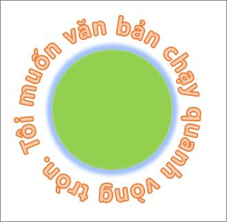 Văn bản được uốn cong xung quanh hình tròn