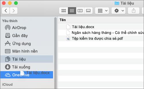 Cửa sổ bộ tìm kiếm Mac Hiển thị các tệp kéo và thả để di chuyển tệp