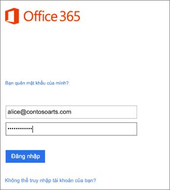 Đăng nhập vào tài khoản tổ chức của bạn trong Outlook