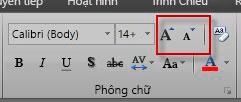 Nhóm phông trong Excel