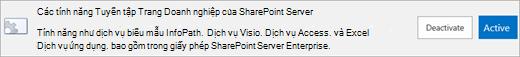 Kích hoạt tính năng tuyển tập trang SharePoint Server Enterprise