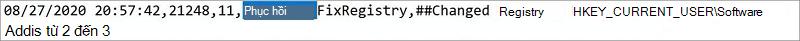 """Ảnh của tệp nhật ký Công việc Trợ giúp Phục hồi và Hỗ trợ của Microsoft. Từ """"Phục hồi"""" được tô sáng."""