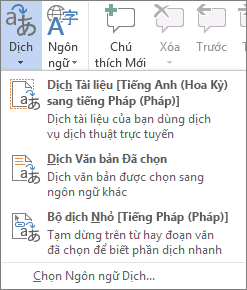 Dịch tài liệu hoặc thư