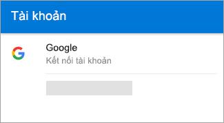 Outlook for Android có thể tự động tìm tài khoản Gmail của bạn.