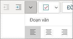 Căn trái đoạn văn trong ứng dụng OneNote for Windows 10