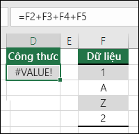 Lỗi #VALUE!