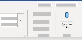 Hiển thị Giao diện người dùng đọc chính tả trong Word
