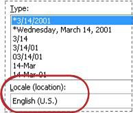 Hộp Bản địa được chọn trong hộp thoại Định dạng Ô