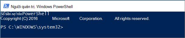 Giao diện của PowerShell khi bạn mở lần đầu.