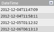 Cột DateTime trong bảng dữ kiện.