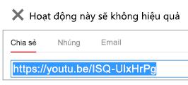 """Nếu mã nhúng của bạn bắt đầu bằng """"http"""", video của bạn sẽ không được nhúng thành công."""