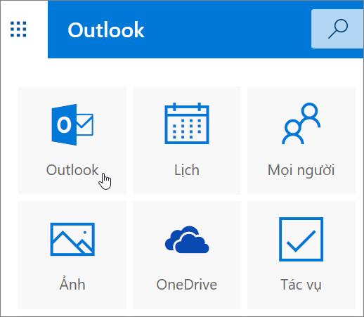 Ảnh chụp màn hình hiển thị ô Outlook đã chọn.