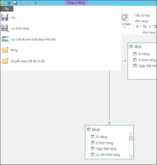 Power Pivot - Lưu chế độ xem sơ đồ mối quan hệ dưới dạng ảnh