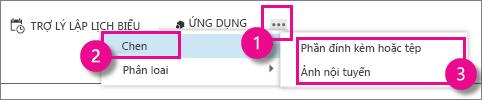 Nút Hành động Khác trong Outlook Web App