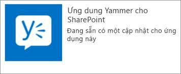 Cập nhật ứng dụng Yammer cho SharePoint