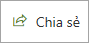 Nút chia sẻ trên một trang web cổ điển