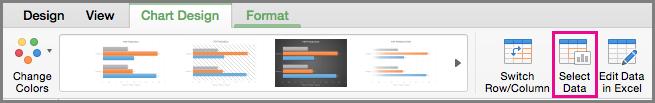 Chọn Dữ liệu trong Biểu đồ trong Office cho Mac