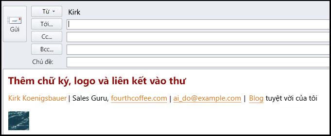 thông điệp email chữ ký điện tử