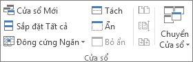 Nhóm Cửa sổ trên tab Xem
