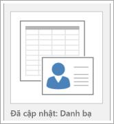 Biểu tượng cho tùy chọn mẫu cơ sở dữ liệu