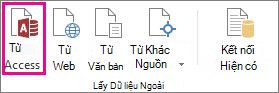 Nút Từ Access trên tab Dữ liệu
