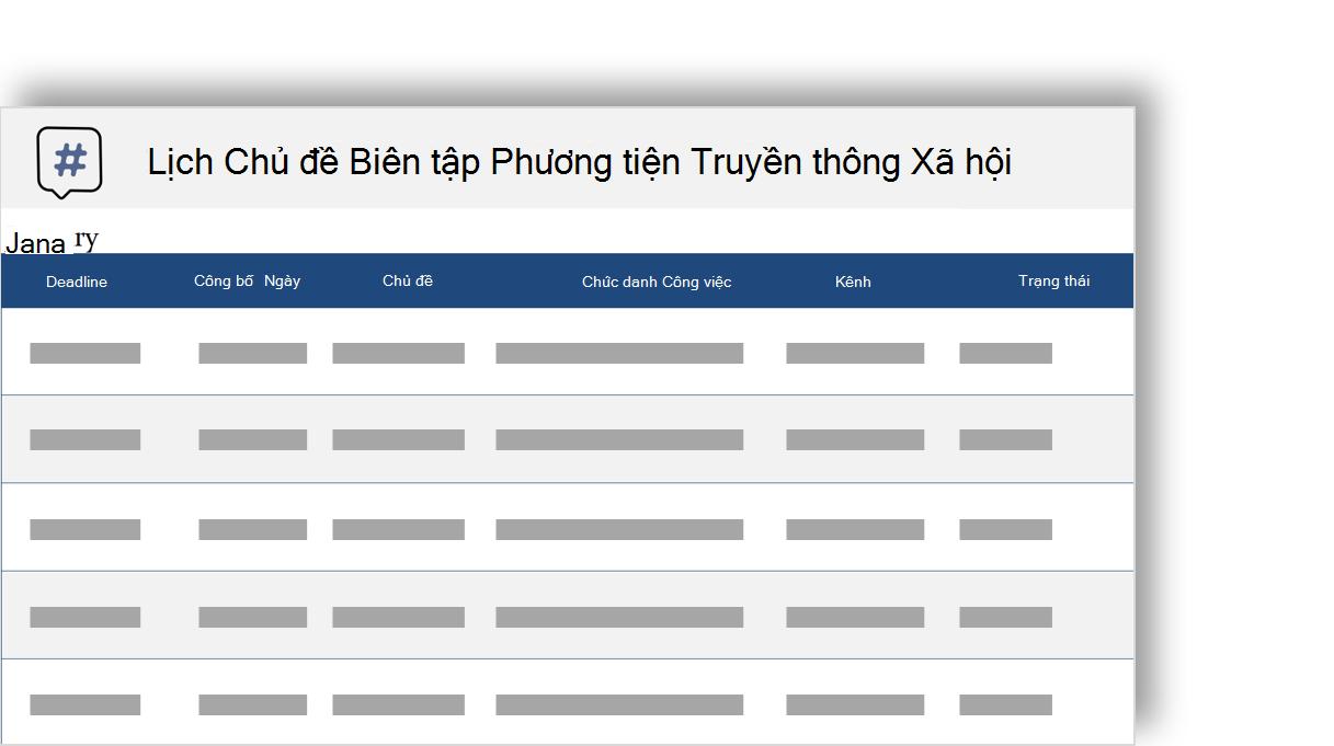 ảnh khái niệm của một lịch biên tập chủ đề truyền thông xã hội