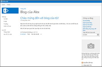 Mẫu Site Blog