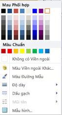 Tùy chọn định dạng viền ngoài hình WordArt trong Publisher 2010