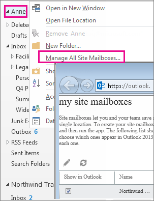 Quản lý hộp thư của trang