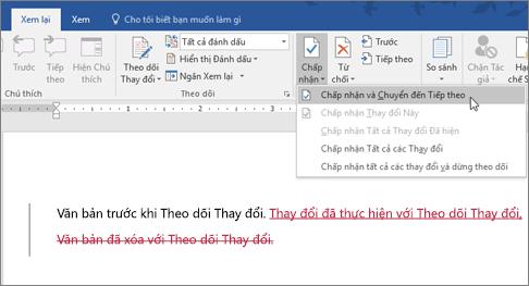 Tính năng Theo dõi Thay đổi Word của Office 365