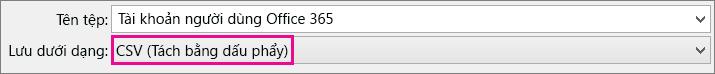 Ảnh cho thấy cách lưu tệp trong Excel theo định dạng CSV