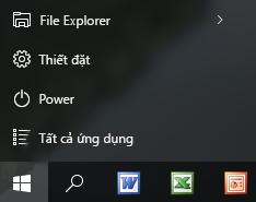 Các lối tắt Office 2003 trên thanh tác vụ Windows