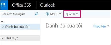 Hình ảnh giao diện trang Mọi người trong Outlook trên web