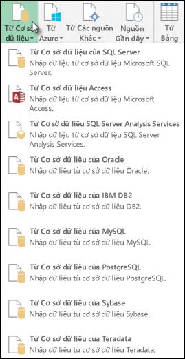 Nhận dữ liệu từ hộp thoại cơ sở dữ liệu