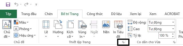 Tab Bố trí Trang