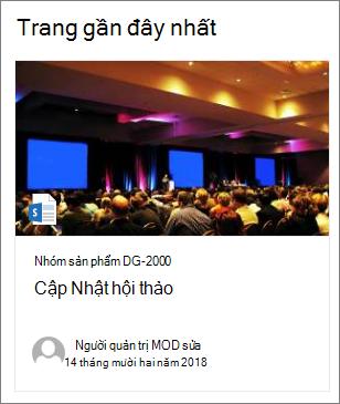 Ví dụ về ảnh hình thu nhỏ của trang trong phần web nội dung được tô sáng
