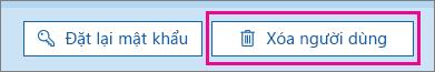Xóa người dùng trong Office 365.