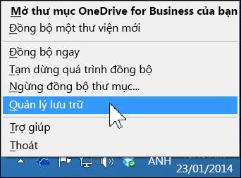 Quản lý lưu trữ OneDrive for Business