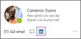 Hiển thị biểu tượng LinkedIn trên thẻ hồ sơ