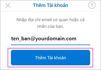 Nhập địa chỉ email của bạn