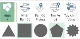 Tùy chọn Hình của Bản đồ 3D