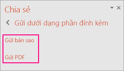 Hiển thị nối kết Gửi PDF trong PowerPoint 2016