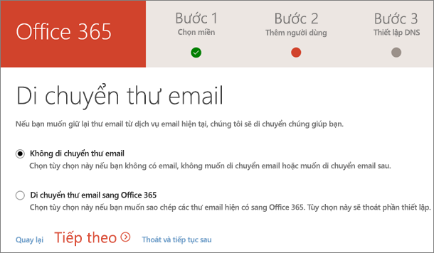 Di chuyển email