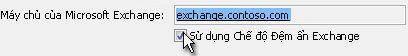 Hộp kiểm Sử dụng Chế độ Đệm ẩn Exchange
