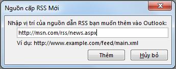 Nhập URL của Nguồn cấp RSS