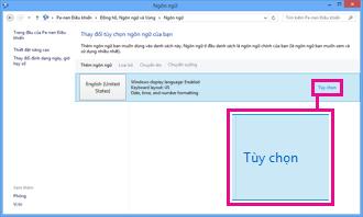 Thêm phương pháp nhập liệu trong Panel Điều khiển trong Windows 8