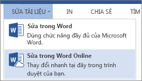 Chỉnh sửa trong Word Online