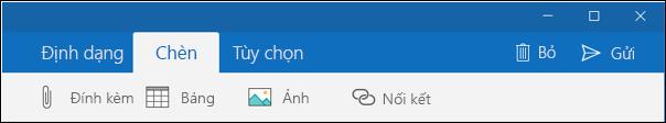 Tab Chèn trong email